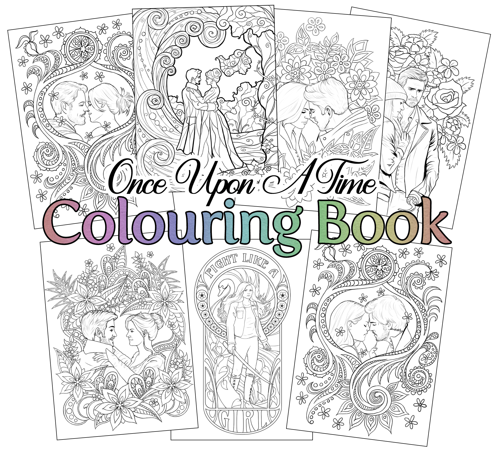 Learn How to Draw a Shopping Mall 👗💄💜🎠Shopping Mall Coloring ... | 1800x2000